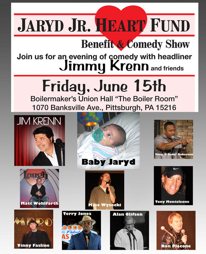 Baby Jaryd Boyer Jr Jim Krenn Comedy Benefit
