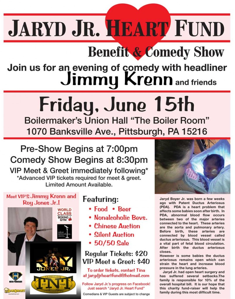 Baby Jaryd Boyer Comedy Benefit Jim Krenn