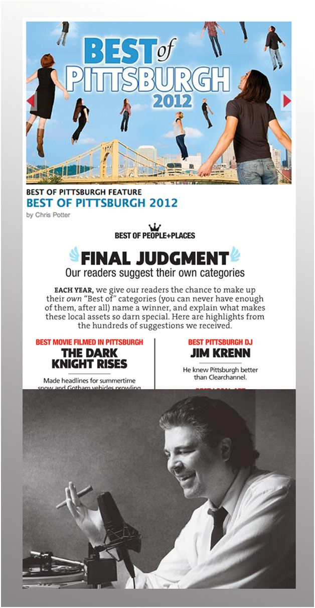 Jim Krenn, Best Pittsburgh DJ, Pittsburgh City Paper, Best of Pittsburgh, talent network