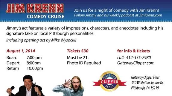 Jim Krenn, Comedy Cruise, Pittsburgh Comedy