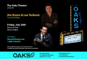 Jim Krenn Comedy and Lee Terbosic Magic show at The Oaks Theater