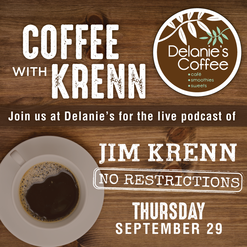 "Thanks again to Delanie's Coffee for partnering with us for ""Coffee with Krenn"""