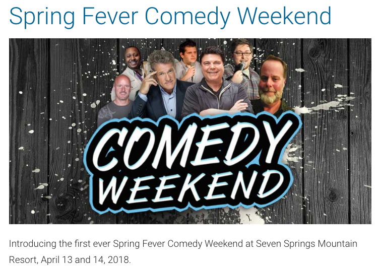Seven Springs Comedy Festival 2018 with Jim Krenn